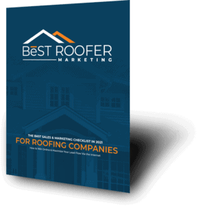 Angled Display of the Best Roofer Marketing Brochure Cover